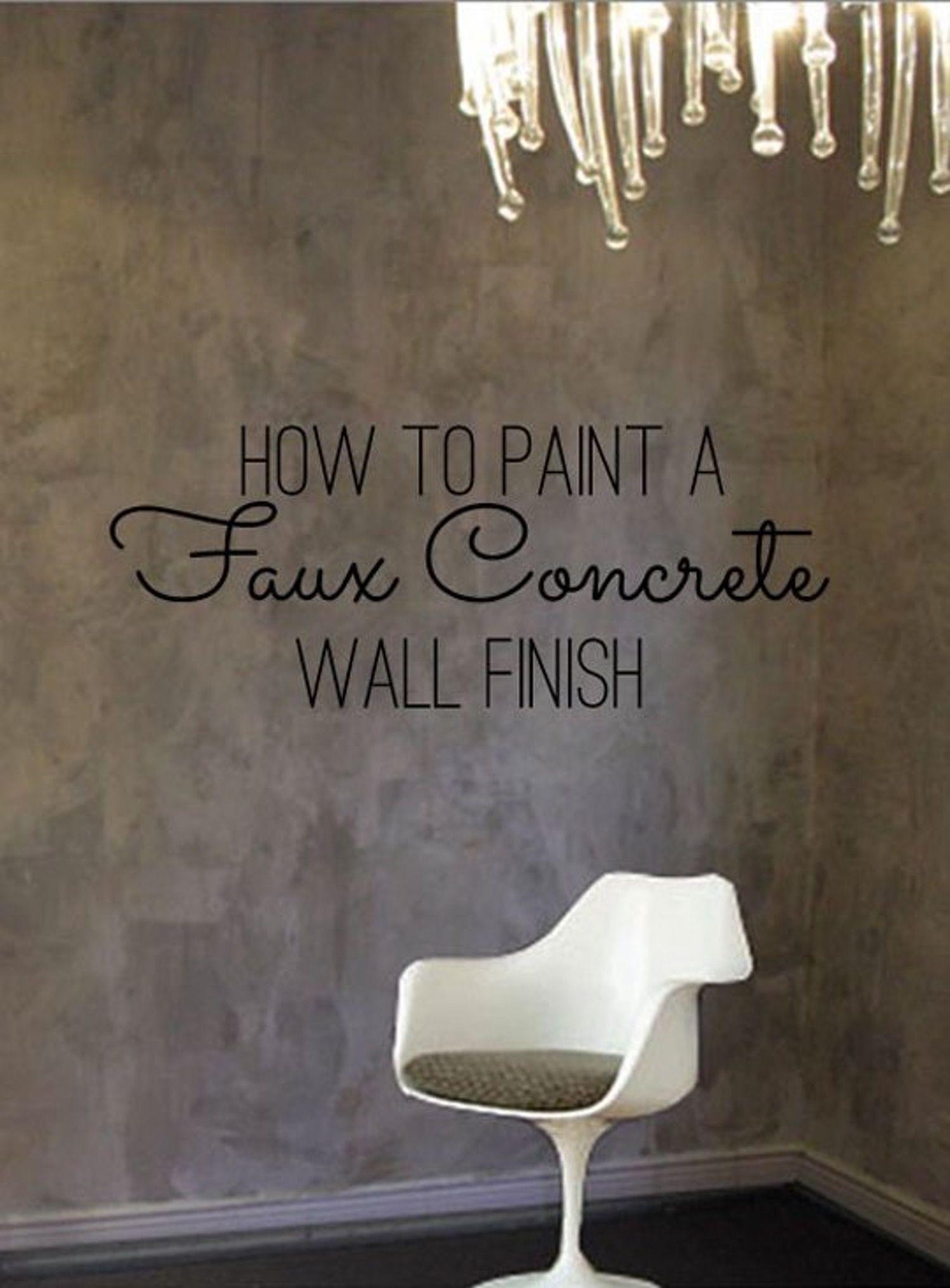 Diy home decor how to paint a faux concrete wall finish u color