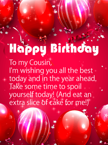 Wishing You All The Best Happy Birthday Card For Cousin Its