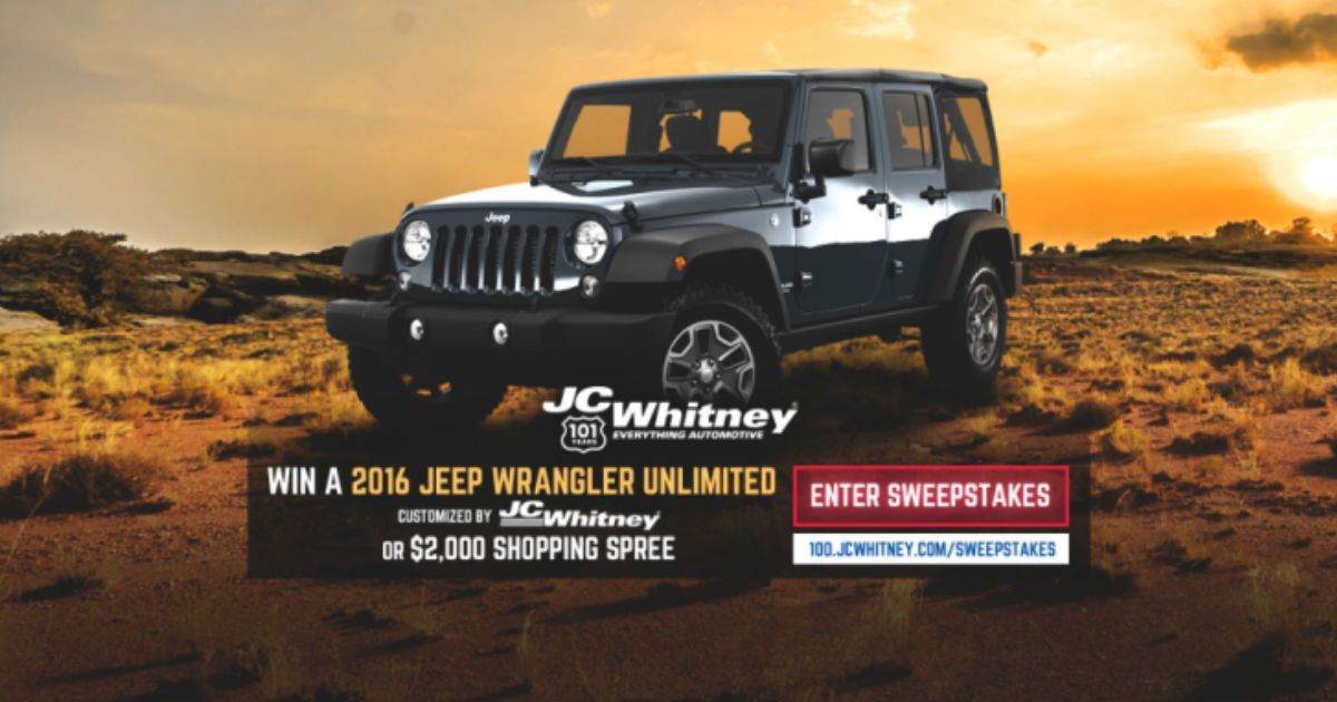 Enter Now! No Purchase Necessary! JC Whitney Is Celebrating 101 Years As  Americau0027s Trusted Partner In Everything Automotive!