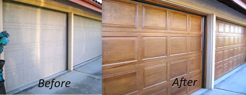 diy faux wood garage doors. we can paint both wood and metal doors with a faux finish description from houzz diy garage