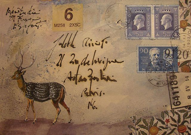 faux mail  but collage letter