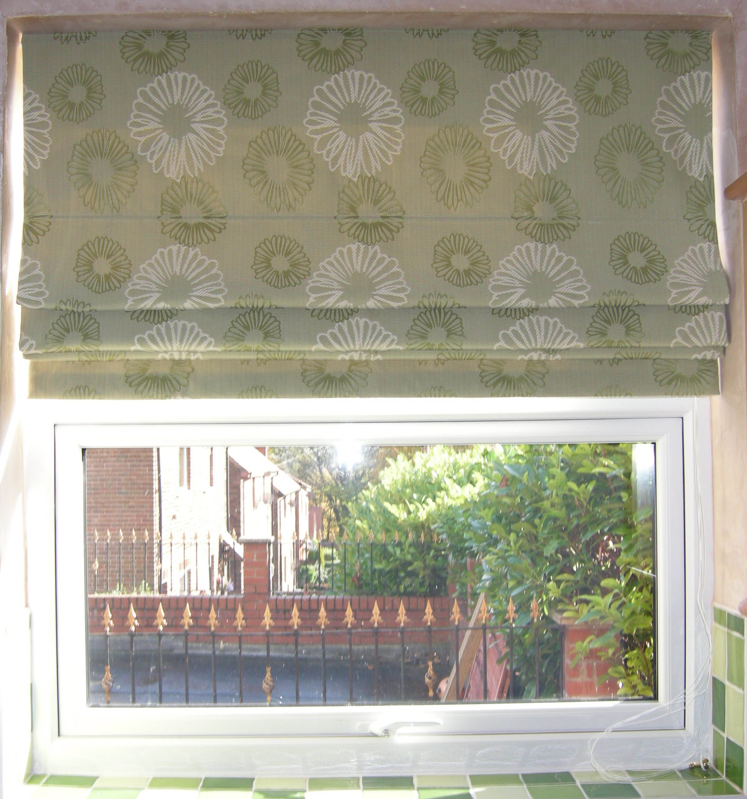 Is it possible to make roman shades that can pull all the way up ...