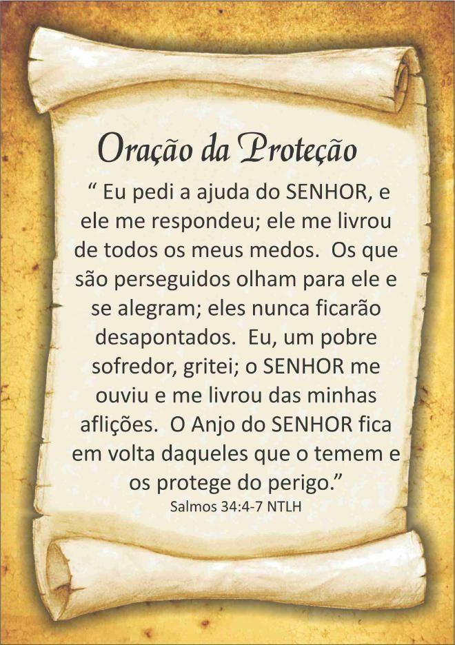 Excepcional Oração da Proteção | oração de livramento | Pinterest | Oracao  RX05