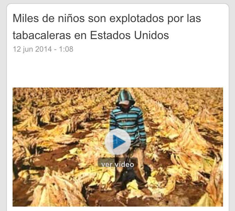 Usa Trabajo Infantil Miles Niños Explorados En Plantaciones De Tabaco Trabajos Infantiles Niños Estados Unidos
