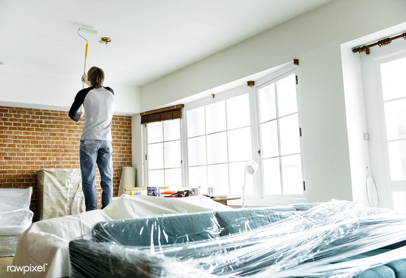 Download premium image of People renovating the house 387171 images