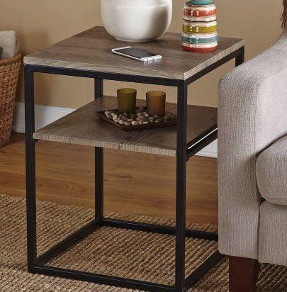 Amazon Com Rustic Coffee Table With Shelf Furniture Square Decor