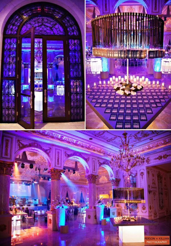 Club Theme Party Ideas - VIP Pass Bar Mitzvah Escort Table & Place ...