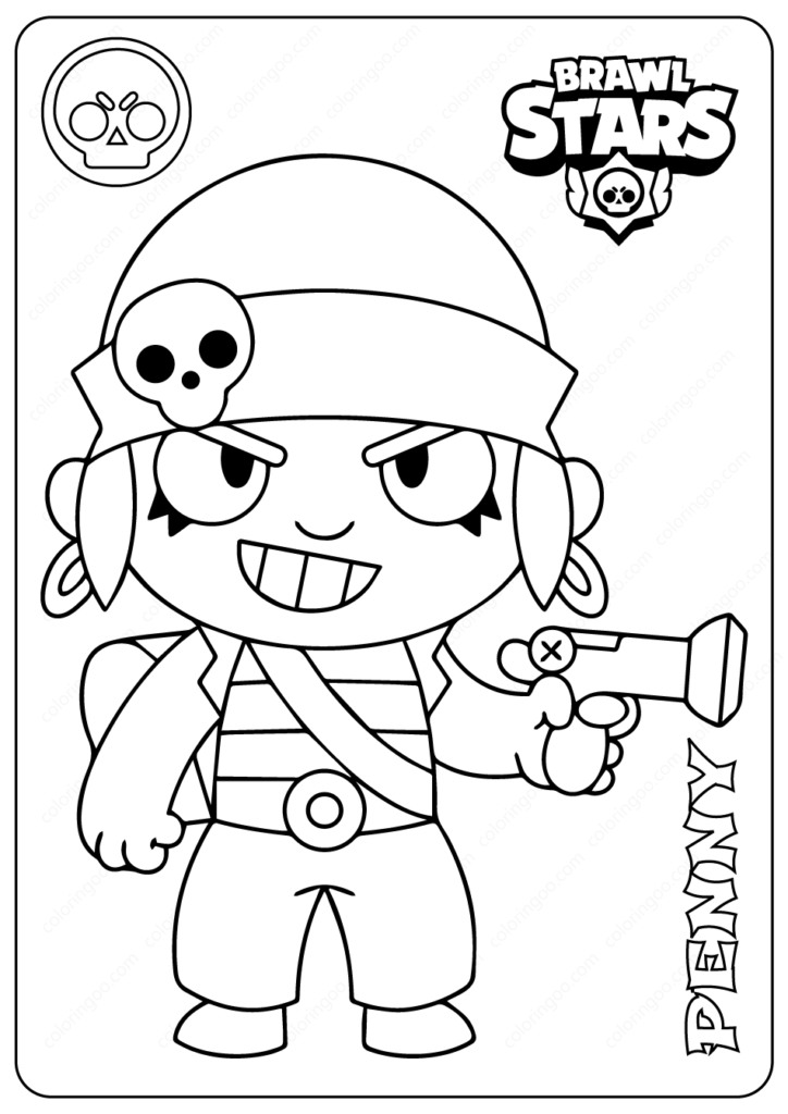 Printable Brawl Stars El Primo Pdf Coloring Pages 17 Star Coloring Pages Coloring Pages Brawl