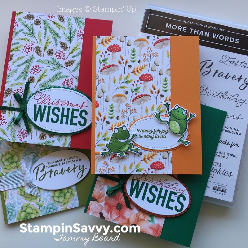 More Than Words New Card Sketch 4 Ways With Images Card