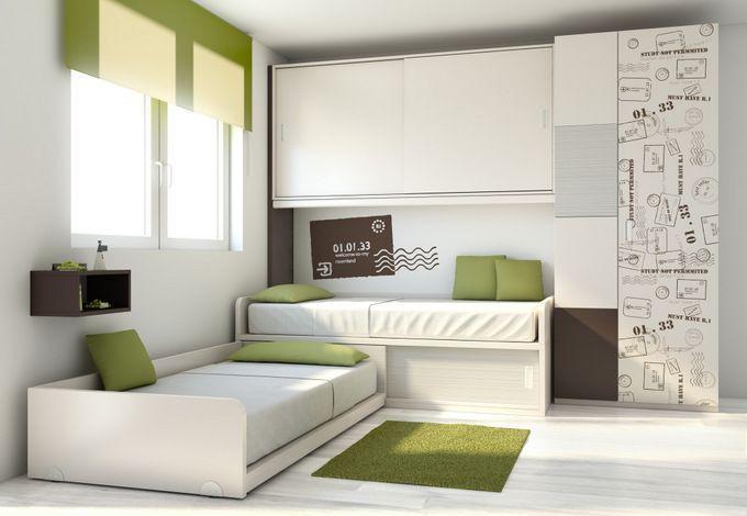 Dormitorios a medida dise o del dormitorio infantil camas compactas en escuadra 1 cuarto - Camas infantiles a medida ...