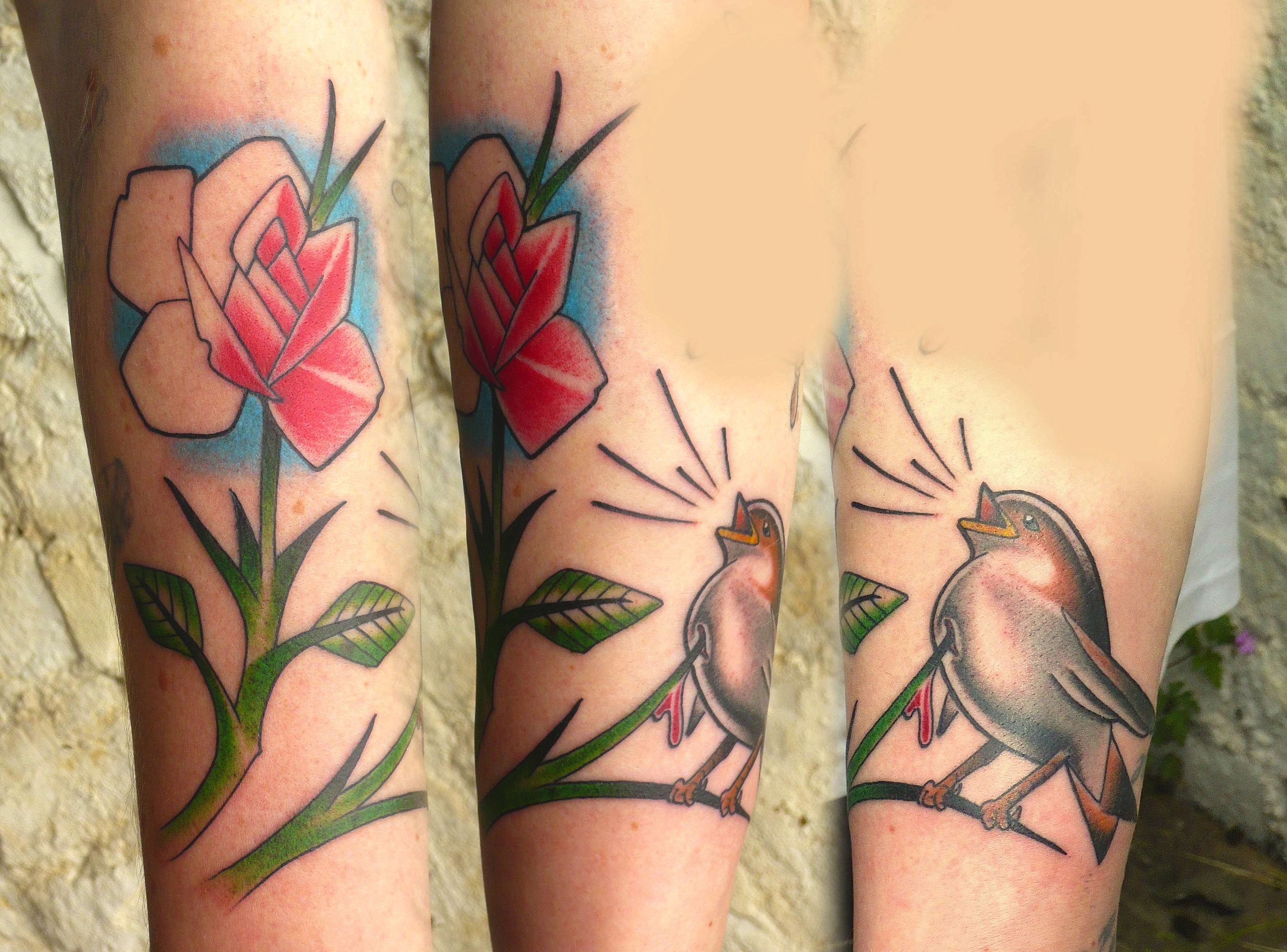 The nightingale and the rose AWESOME TATTOO