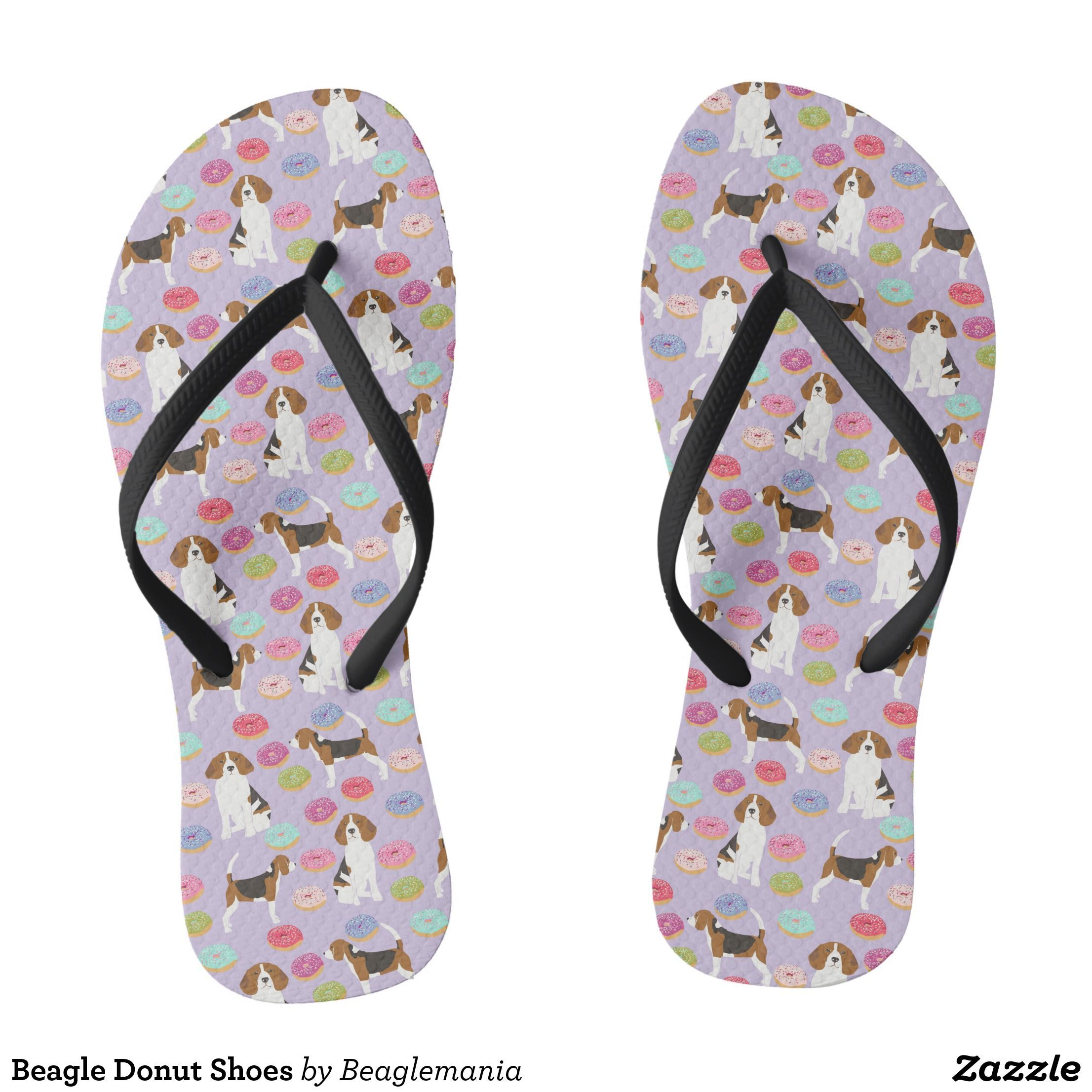 96f6b4926161 Beagle Donut Shoes Flip Flops - Durable Thong Style Hawaiian Beach Sandals  By Talented Fashion