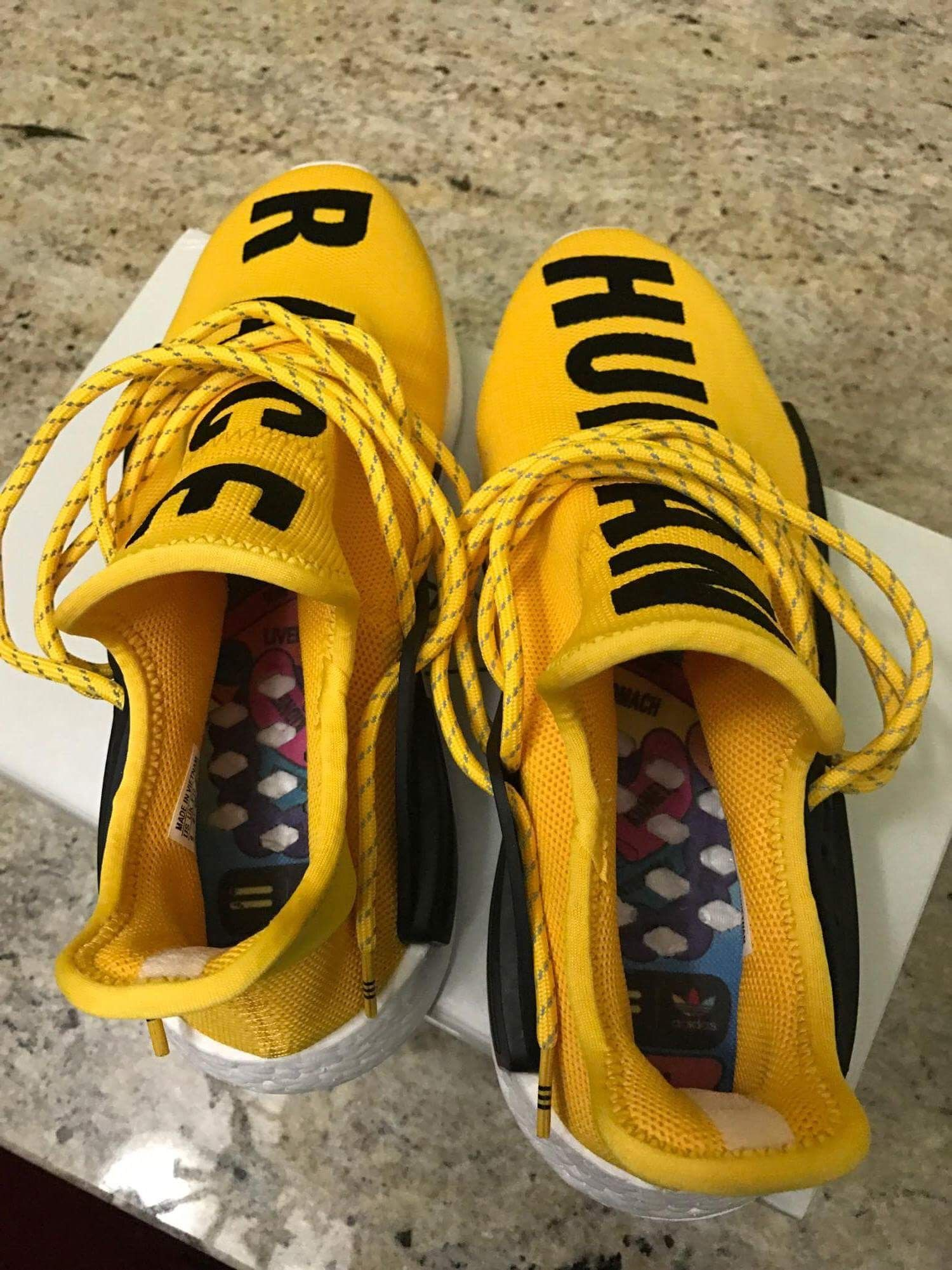 Authentic Adidas Human Race NMD x Pharrell Williams Yellow HD On