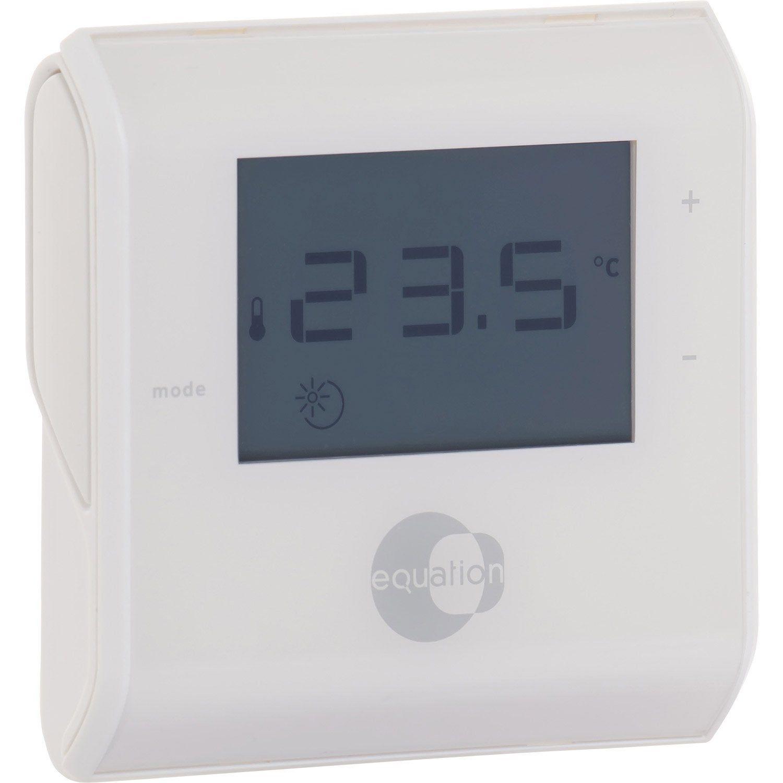 Thermostat Manuel Filaire Equation Termo Avec Images Manuel Equation