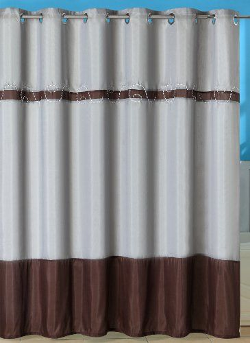 Bedford Home Claridge Embroidered Shower Curtain With Grommets Click Image To Review More Details