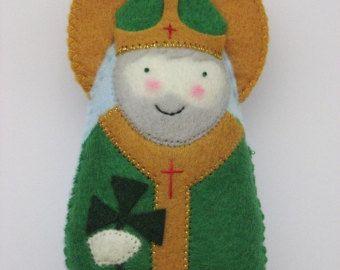 Saint Maria Goretti...Felt Softie by SaintlySilver on Etsy