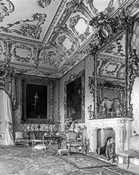 Manor House Drawing: Clumber Park. The State Drawing Room. Homes To The Dukes
