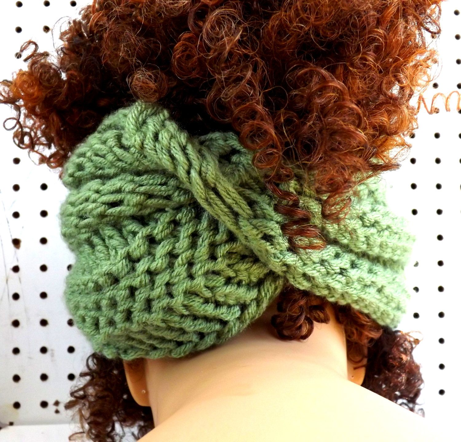 Knitted Scarf, Infinity Scarf, Cowl Scarf, Sage Green Scarf, BOA ...