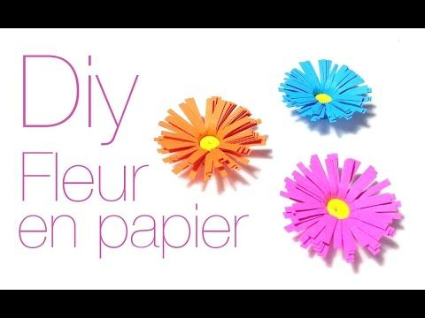 Realiser Une Fleur En Papier Youtube Scrap Et Cie Pinterest