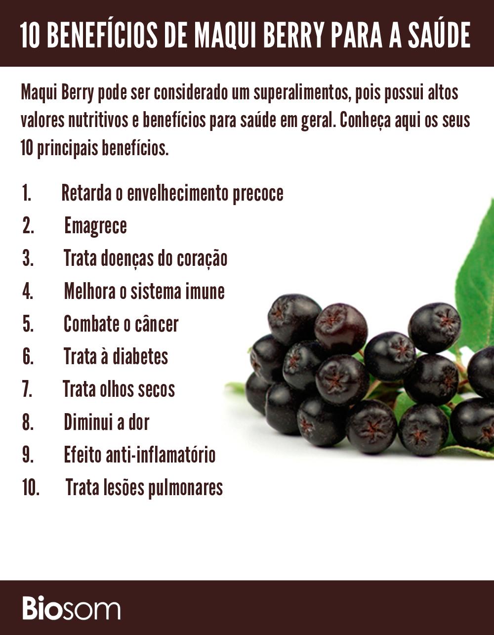 acbf24a7e2 Clique na imagem e veja mais sobre os 10 Benefícios Incríveis de Maqui  Berry para a