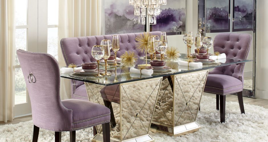 Amethyst Borghese Dining Room Inspiration Look On