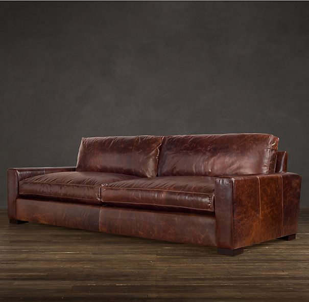 Maxwell Leather Sofas Restoration Hardware Love The Style Not A Fan Of Shiny