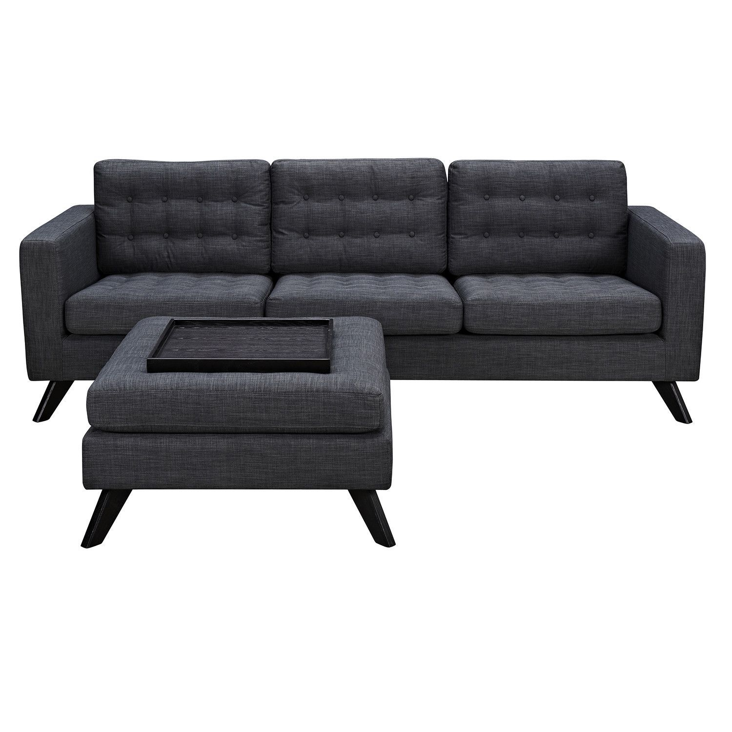 Best Charcoal Gray Mina Sofa Set – First Of A Kind Grey Sofa 400 x 300