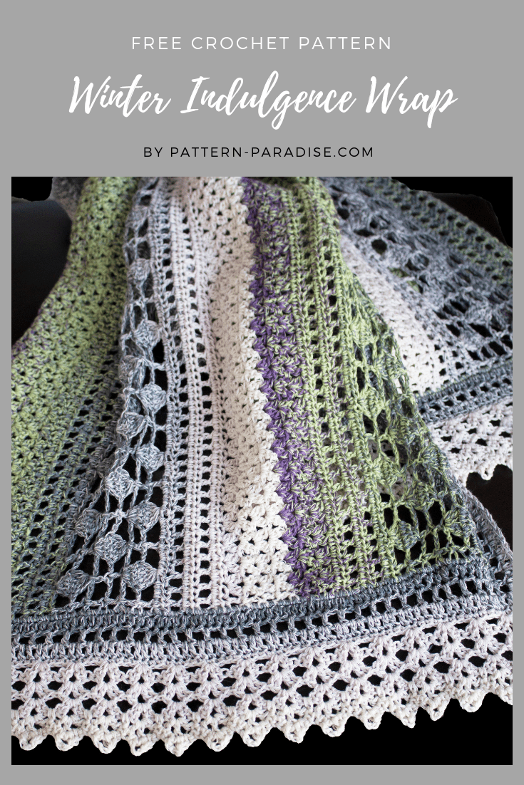 Free Crochet Pattern: Winter Indulgence Wrap | Pat