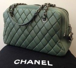 Chanel Agneau Leather Bowling Bag