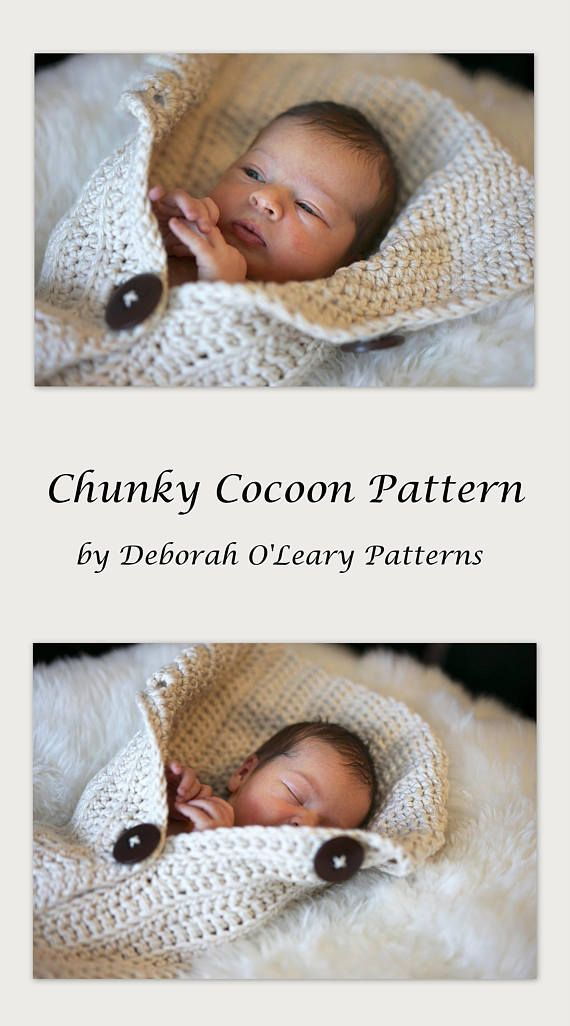 Crochet Cocoon Pattern - EASY CROCHET PATTERN by Deborah O\'Leary ...