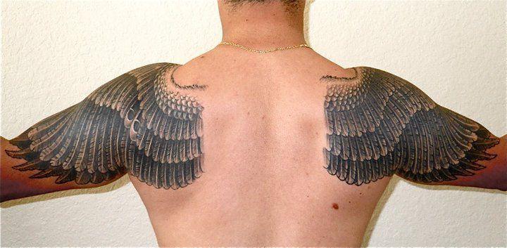 Tatuajes Alas De Angel En La Espalda Buscar Con Google I Love