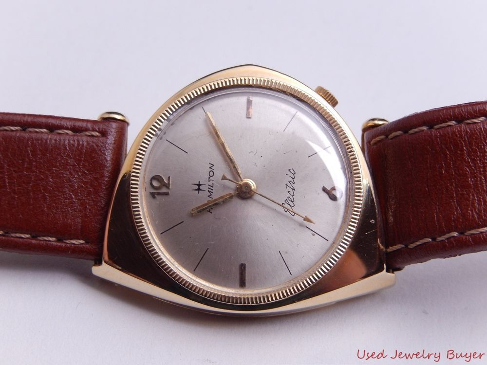 Hamilton Electric Savitar 14k Yellow Gold Silver Dial Vintage Mens Watch  #Unbranded
