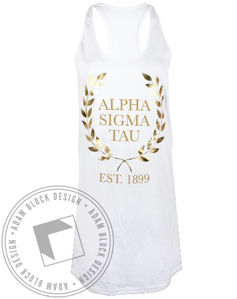 Alpha Sigma Tau Greek Goddess Dress - Adam Block Design