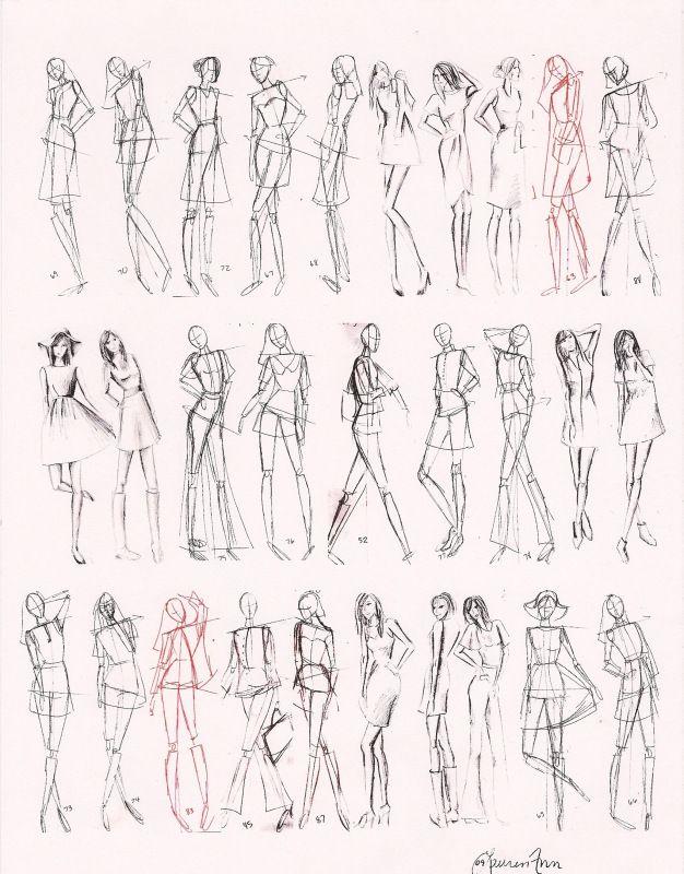 Gesture Fashion Figures 1 Minute 5 Minutes Fashion