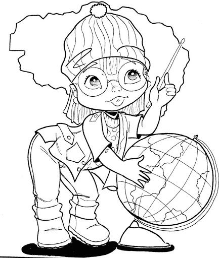 geography teacher - free coloring pages | Coloring Pages | coloring ...