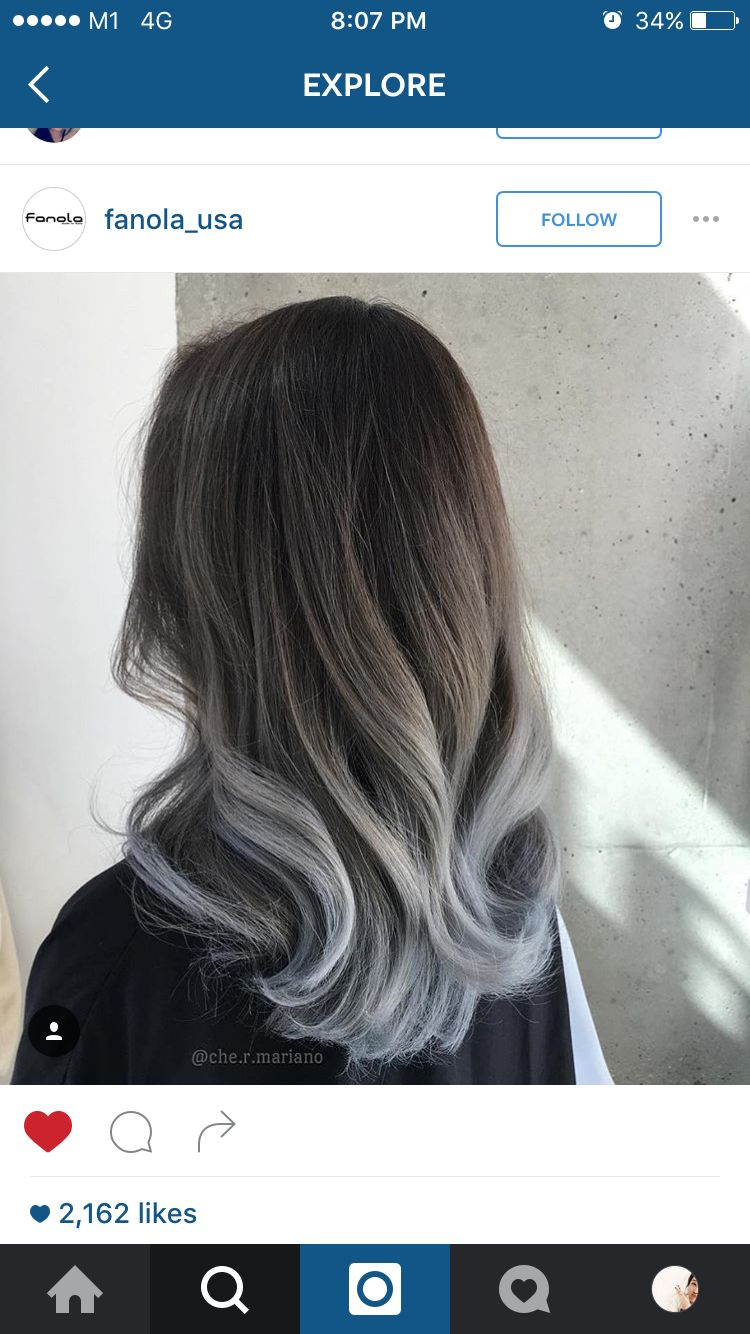 That steel blue hair art pinterest hair ombre hair and ombre