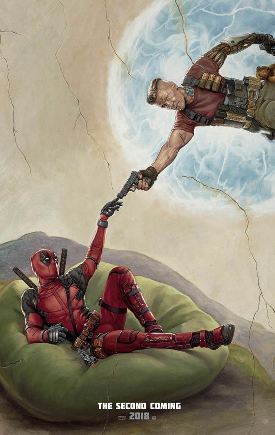 "Josh Brolin Free S//H 27/""x40/"" Movie Poster - Deadpool 2 Ryan Reynolds"