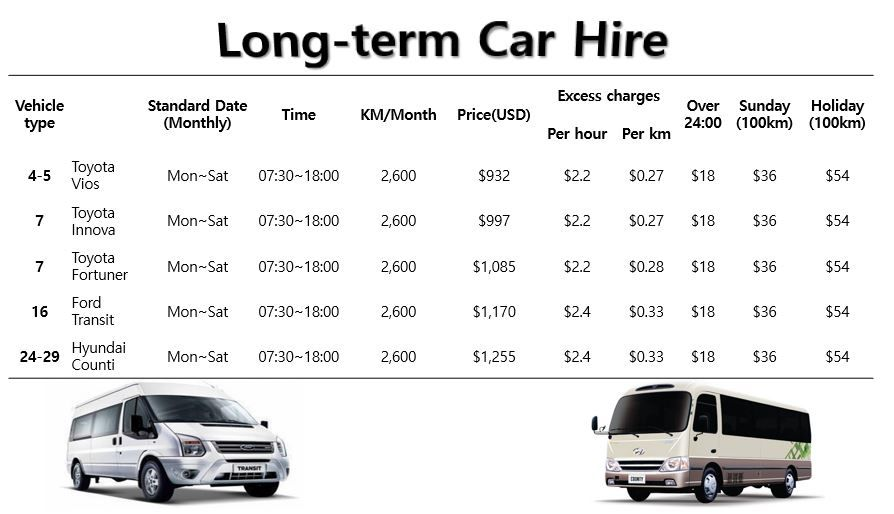 Long Term Hire Viet Nam Rent Car Car Hire Hiring Car Rental
