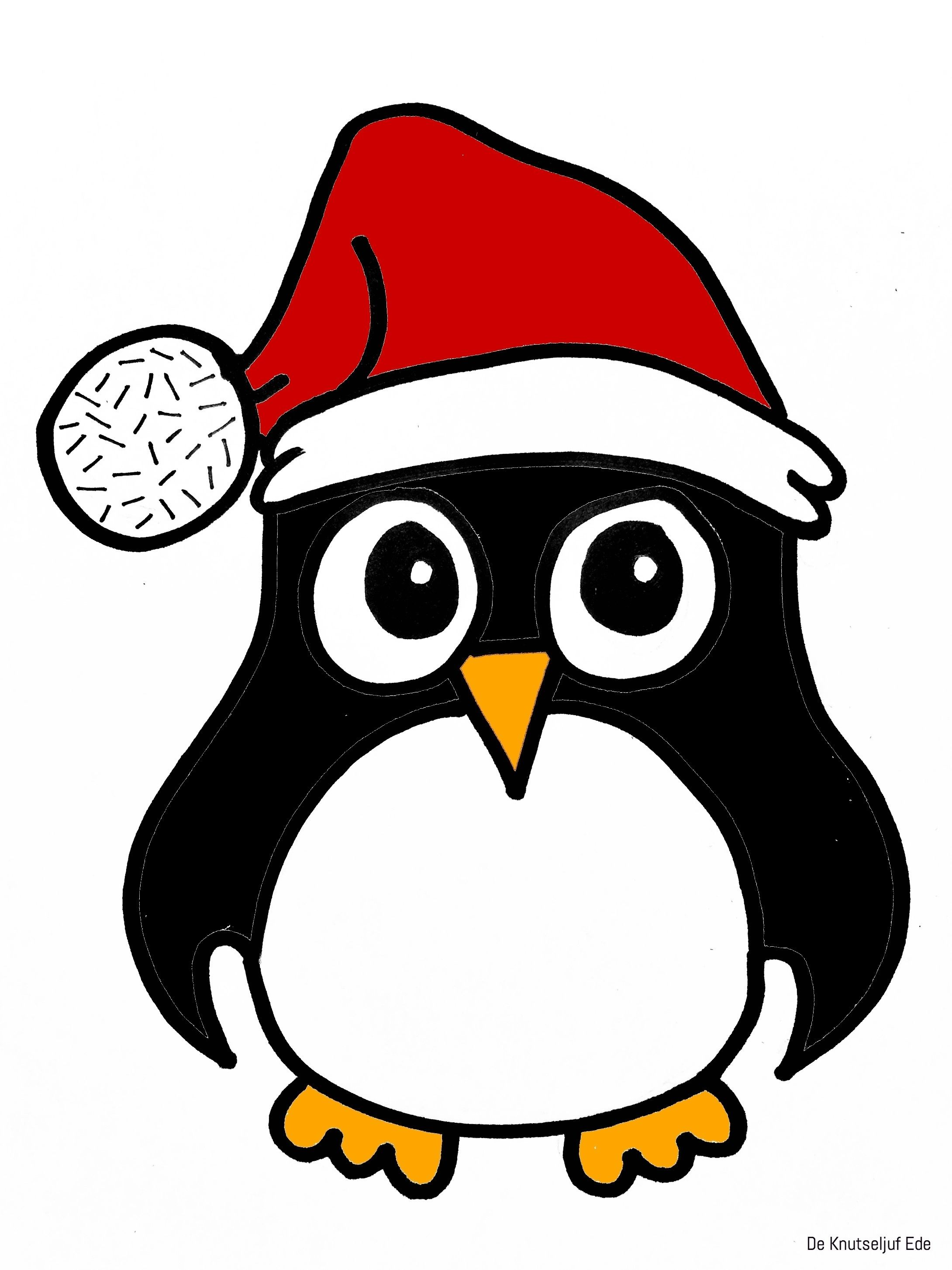 Kleurplaten Pinguins Kleurplaten De Knutseljuf Ede Pinguins Kleurplaten Winter Knutselen