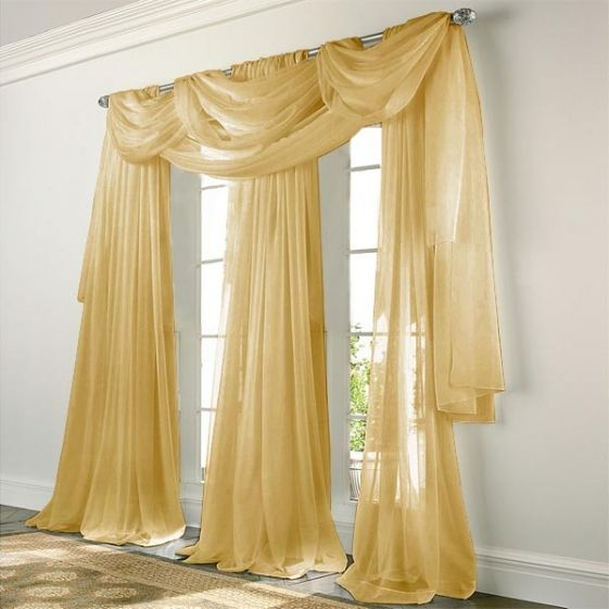 Elegance Voile Gold Sheer Curtain Gold Curtains Sheer Curtain