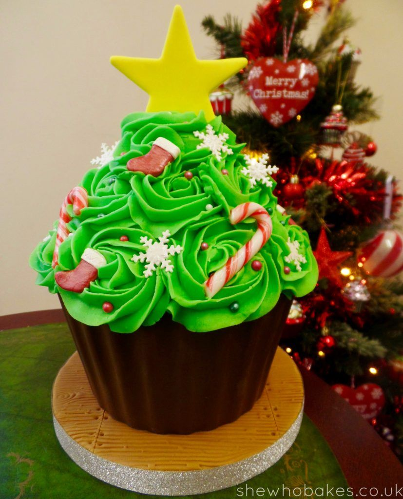 Giant Cupcake Christmas Tree by She Who Bakes | Giant Cupcakes ...