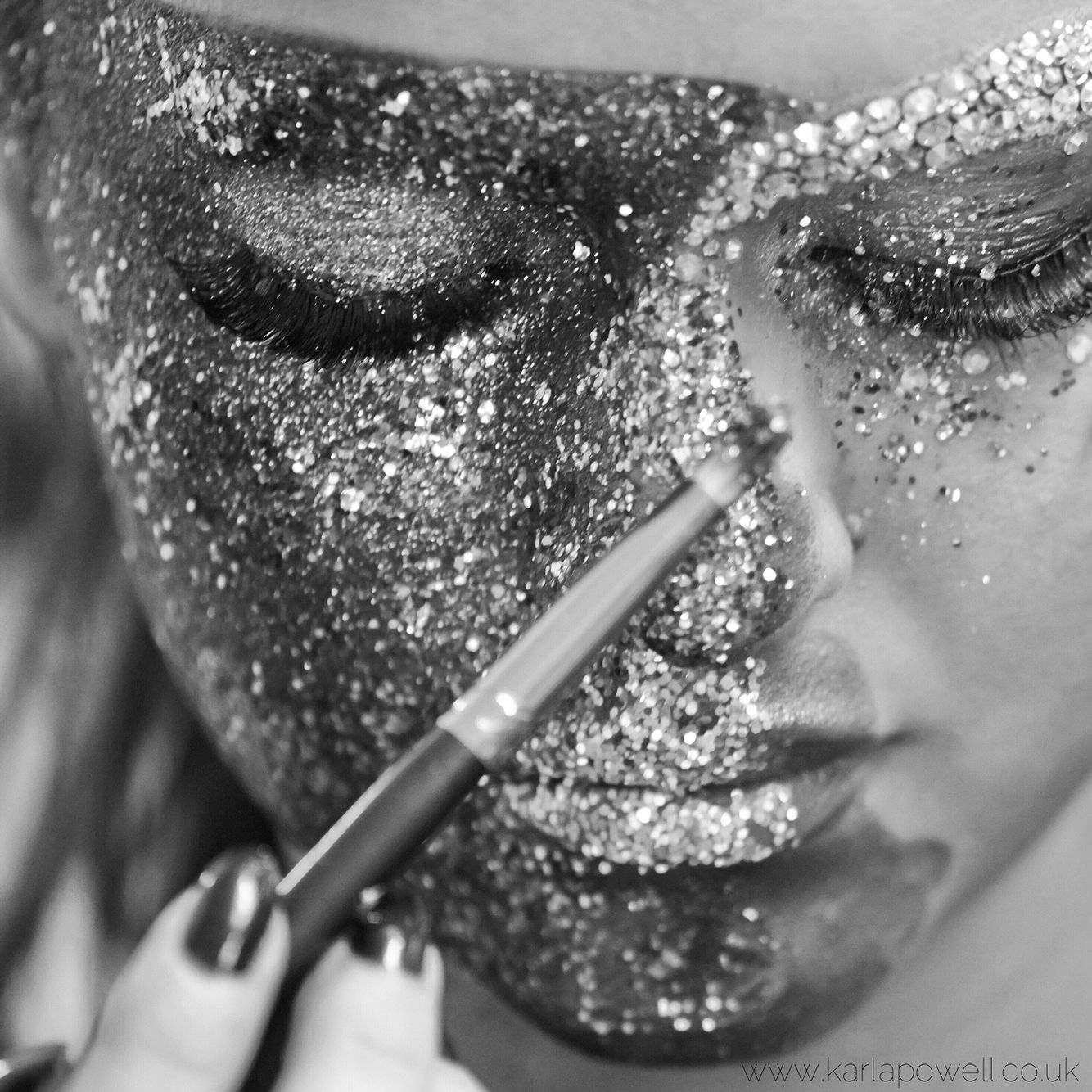 Glitter! Behind the scenes with Karla powell for Karla