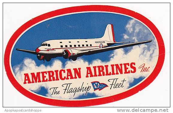 Vintage American Airlines Luggage Label | Classic Airline Travel ...