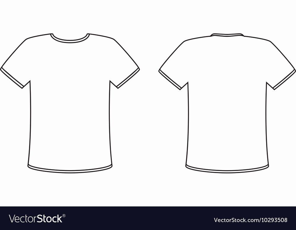 Download Blank Tshirt Template Lovely Blank Front And Back T Shirt Design Template Set Vector Image T Shirt Design Template Shirt Template Blank T Shirts