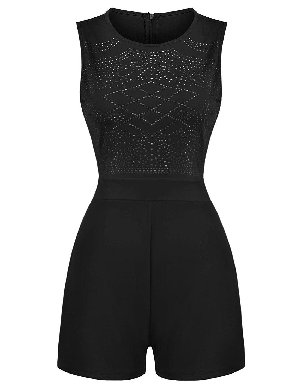 e6f493c26c49 ... Women Rhinestone Embellished Sleeveless High Waist Jumpsuit - Black -  CI184Q7SSAS  Lingerie  Sleep  Lounge  fashion  sexy  style  shopping   Shapewear