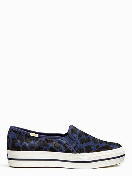 09a6a1b28 Keds X Kate Spade New York Triple Decker Leopard Sneakers, Blue - Size 5.5