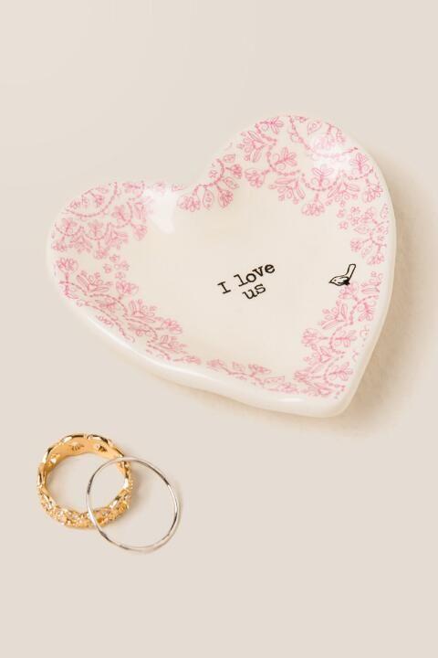 I Love Us Vintage Heart Trinket Dish-  gift-cl