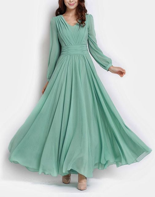 Long Maxi Dresses with Sleeves Online