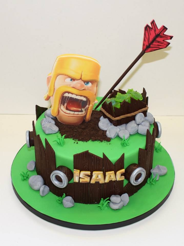 11 Clash Of Clans Birthday Cake Ideas Clash Of Clans Clan Clash Royale Party