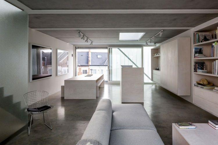 Niedrige Decken   Monochrome Wohneinrichtung